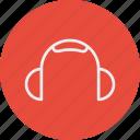 devices, electronic, elements, headphones icon