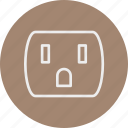 devices, electronic, elements, socket icon