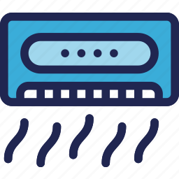 air, conditioner, electric, electronic, equipment, home icon