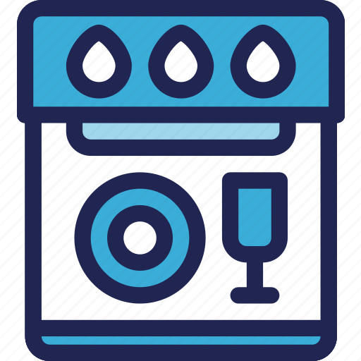 dishwasher, electric, electronic, equipment, home, kitchenware, machine icon