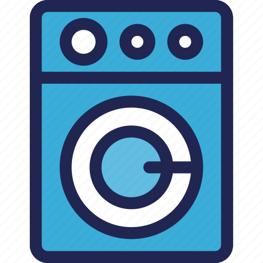cleaning, electronic, equipment, home, laundry, machine, washing icon