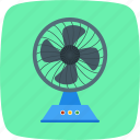 charging fan, electric fan, pedestal fan icon
