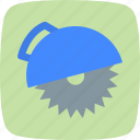 circular saw, cutter, saw, wheel disc icon