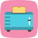 machine, slice toaster, toast, toaster icon