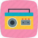 cassette, cassette player, music player icon