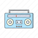 audio, music, sound, tape icon
