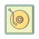 music, player, vinyl, vinyl player icon