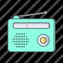 fm radio, media, radio, radio set icon