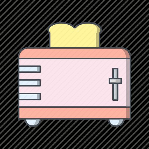Slice toaster, toast, toaster icon - Download on Iconfinder