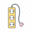 cable, cord, extension, plug icon