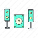 audio, music system, speaker, system icon