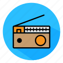 color, electronic, full, icon, radio, wave icon