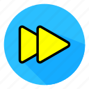 audio, color, full, icon, next, play, sound icon