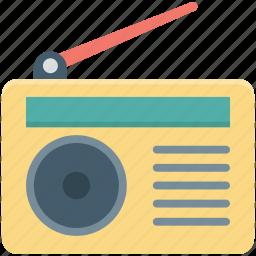 media, old radio, radio, radio set, transmission icon