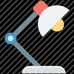 anglepoise lamp, arc lamp, desk light, lamp, table lamp icon