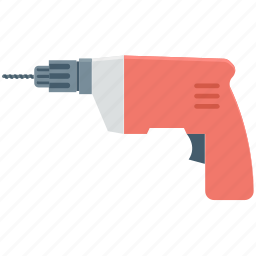 carpentry, construction tool, drill machine, electric drill, industrial equipment icon
