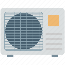 ac outdoor, air conditioner, air conditioning unit, electronics, outdoor unit icon
