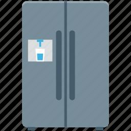 double door fridge, electronics, freezer, home appliance, refrigerator icon
