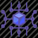 connector, electronics, media, network, social icon