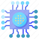 chip, cpu, electronic, technology icon