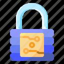 electronic, lock, padlock, secure, security