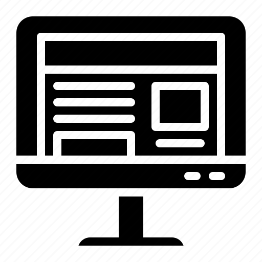 computer, electronics, monitortv, technology, television icon