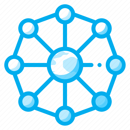 electronic, media, network, networking, share, social icon