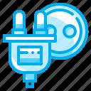 electronic, plug, socket, technology icon