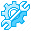 electronics, hammer, settings, tools, wrench icon