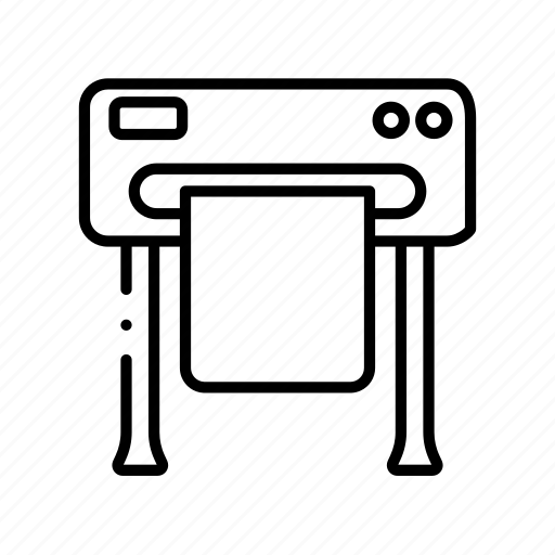 Large, machine, plotter, press, print, printer, printing icon - Download on Iconfinder