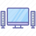 computer, desktop, display, display screen, electronic monitor, hardware, lcd monitor icon