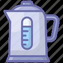 boiler, coffee machine, home appliance, kitchen appliance, tea kettle icon