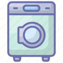 drying laundry, household appliance, laundry, washing clothes, washing machine icon