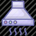 cooker hood, exhaust hood, extractor hood, kitchen chimney, kitchen hood, range hood icon