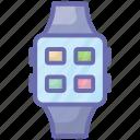 modern technology, smart bracelet, smartwatch, wifi watch, wrist watch icon