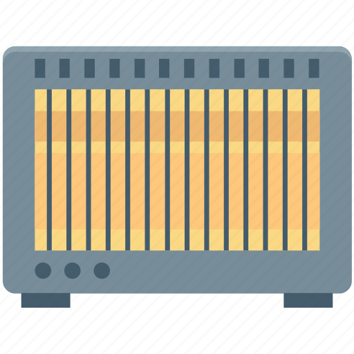 electric heater, electronics, heater, room heater, wall heater icon
