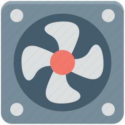 case fan, computer cooler, computer fan, cpu fan, pc cooling icon