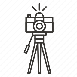 camera, photo, photography, picture, tripod, video icon