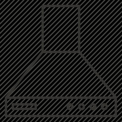 cooker, extractor, hood, kitchen, restaurant icon