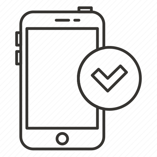 device, done, iphone, mobile, phone, smartphone, things icon