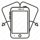 device, iphone, mobile, phone, rotate, smartphone