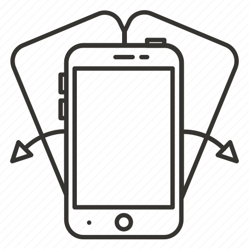 device, iphone, mobile, phone, rotate, smartphone icon