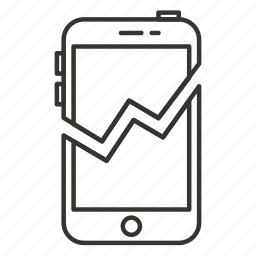 broken, device, failure, iphone, mobile, phone, smartphone icon