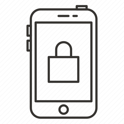 device, iphone, lock, mobile, phone, secure, smartphone icon