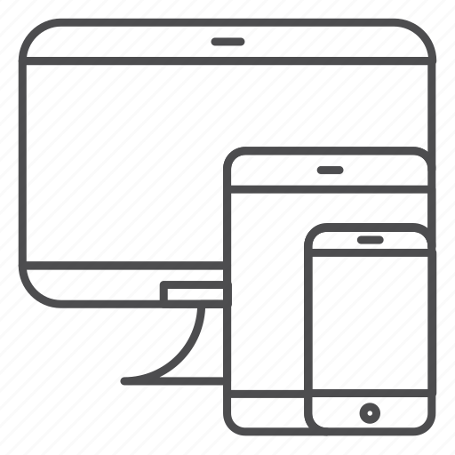 adaptive, design, development, ipad, iphone, responsive, web icon