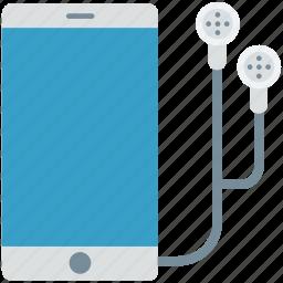 earbuds, earphones, ipad, mobile, smartphone icon