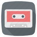 audio tape, cassette, cassette tape, compact icon