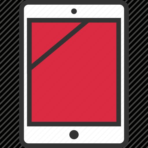 ipad, pad, screen, tablet icon
