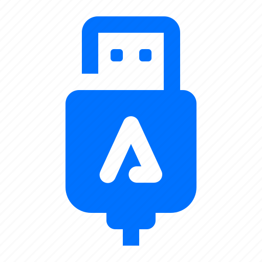 auto, cable, connection, usb icon