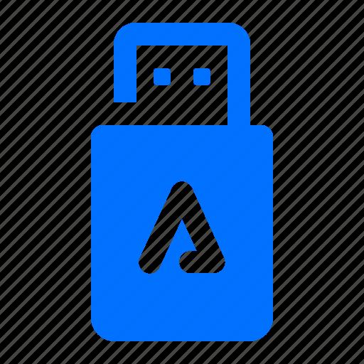 auto, memory, stick, usb icon